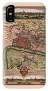 Map Of Antwerp 1675 IPhone Case