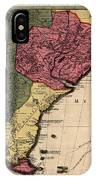 Map Of Argentina 1700 IPhone Case