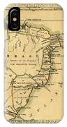 Map Of Brazil 1808 IPhone Case