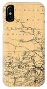 Map Of Canada 1762 IPhone Case