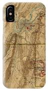 Map Of Chattanooga 1895 IPhone Case