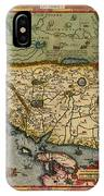 Map Of China 1590 IPhone Case