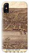 Map Of Cleveland 1877b IPhone Case
