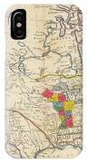 Map Of Colonial North America  IPhone Case