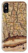 Map Of Connecticut 1795 IPhone Case