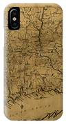 Map Of Connecticut 1797 IPhone Case