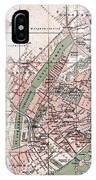 Map Of Copenhagen 1888 IPhone Case
