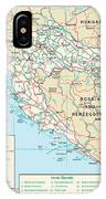 Map Of Croatia IPhone Case