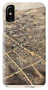 Map Of Danbury 1875 IPhone Case