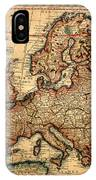 Map Of Europe 1700 IPhone Case