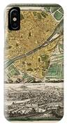 Map Of Florence 1731 IPhone Case