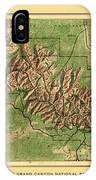 Map Of Grand Canyon 1926 IPhone Case