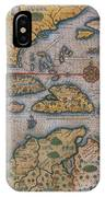 Map Of Gulf Of Mexico And C IPhone Case