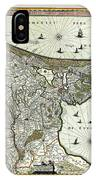 Map Of Holland 1682 IPhone Case