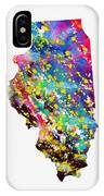 Map Of Illinois-colorful IPhone Case