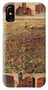 Map Of Los Angeles 1891 IPhone Case