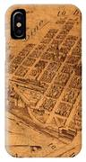 Map Of Minneapolis Minnesota Vintage Birds Eye View Aerial Schematic On Old Distressed Canvas IPhone Case