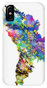 Map Of Moldova-colorful IPhone Case