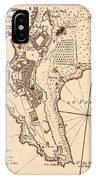 Map Of Monaco 1764 IPhone Case