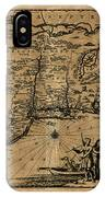 Map Of New York 1600 IPhone Case