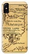 Map Of Newfoundland 1625 IPhone Case