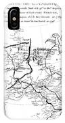 Map Of North America, Plotting The Expeditions Of Sir Alexander Mackenzie In 1789 And 1798 To The Ar IPhone Case