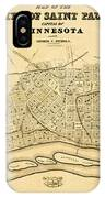 Map Of Saint Paul 1852 IPhone Case