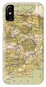 Map Of Spain IPhone Case
