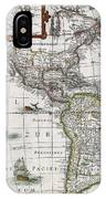 Map Of The Americas IPhone Case