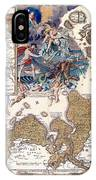 Map Of The Christmas Flood Of 1717 IPhone Case