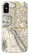 Map Of The Middle East From The Sixteenth Century IPhone Case