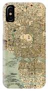 Map Of Tokyo 1854 IPhone Case