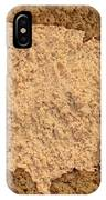Map Of Usa On Sandy Beach IPhone Case