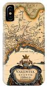 Map Of Valencia 1634 IPhone Case