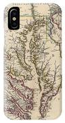 Map Of Virginia And Maryland IPhone Case