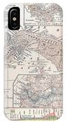 Map: Panama, 1907 IPhone Case