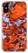 Maple Leaves Aglow IPhone Case