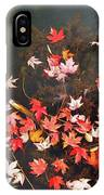 Maple Leaves On The Water  IPhone Case