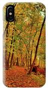 Maple Woods Trail 2 IPhone Case
