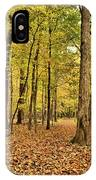 Maple Woods Trail IPhone Case