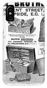 Mappin Brothers Ad, 1895 IPhone Case