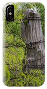 Marble Falls Texas Old Fence Post In Spring IPhone Case