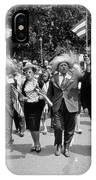 Marchers Wearing Hats Carry Puerto Rican Flags Down Constitution Avenue IPhone Case