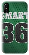 Marcus Smart Boston Celtics Number 36 Retro Vintage Jersey Closeup Graphic Design IPhone Case