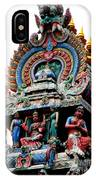Mariamman Temple Detail 3 IPhone Case