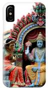 Mariamman Temple Detail 4 IPhone Case