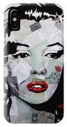 Marilyn Monroe Red Flower IPhone Case