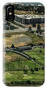 Mariners Point Golf Center In Foster City, California Aerial Photo IPhone Case