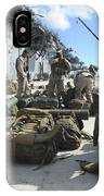 Marines Move Gear During An Embarkation IPhone Case