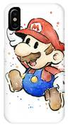 Mario Watercolor Fan Art IPhone Case